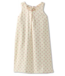Us Angels Printed Aline Dress With Tie Back Girls Dress (White)