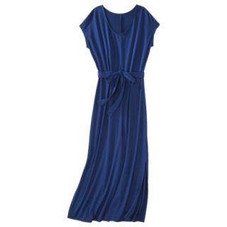 Merona Womens Knit V Neck T Shirt Maxi Dress   Waterloo Blue   XXL
