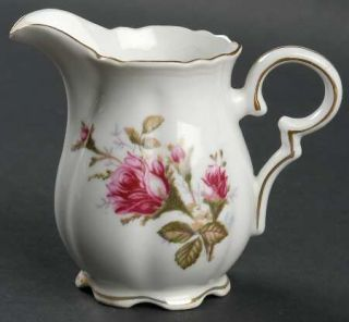 Royal Sealy Moss Rose Creamer, Fine China Dinnerware   White Background,Pink Ros