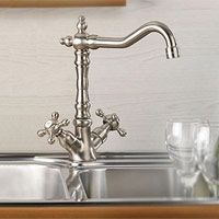 Mico 7759 C4 SN Victorian Two Handle Single Hole Kitchen Faucet