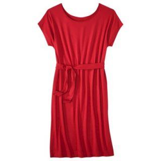 Merona Womens Knit Belted Dress   Wowzer Red   M
