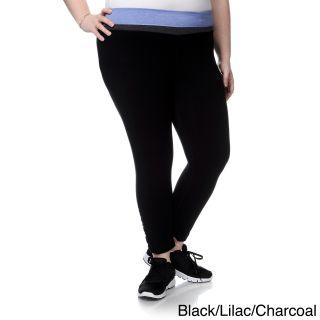 90 Degree By Reflex Womens Plus Size Shirred Leg Yoga Capri Pants