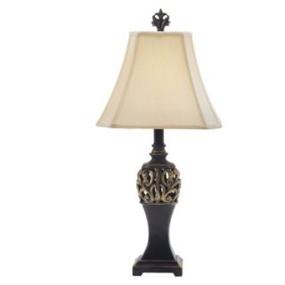 Resin Scrollwork Table Lamp   Bronze/ Gold