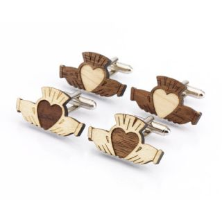 MonsonIrishJewelry Wood Claddagh Cufflinks SN PUYA ZUI0