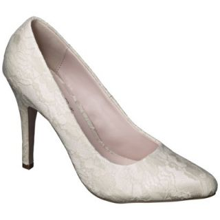 Womens De Blossom Selma Womens Lace High Heel Pump   Nude 8