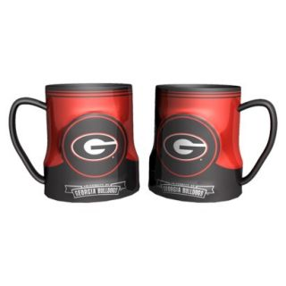 Boelter Brands NCAA 2 Pack Georgia Bulldogs Game Time Coffee Mug   Black (20 oz)