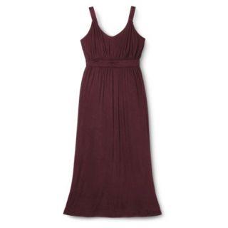 Merona Womens Plus Size Sleeveless V Neck Maxi Dress   Berry 2