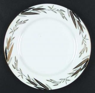 Narumi Royal Family Dinner Plate, Fine China Dinnerware   Black And Gold Leaves