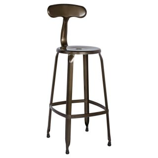Chintaly Tyrone Galvanized Steel Bar Stools   Set of 4   CTY1355
