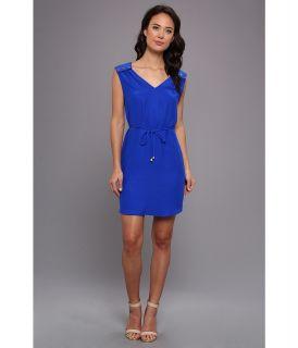 Amanda Uprichard 6 Button Dress Womens Dress (Navy)