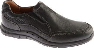 Mens Clarks Un.Venton   Black Leather Casual Shoes