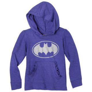 Batgirl Infant Toddler Girls Long Sleeve Hooded Tee   Purple 3T