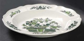 Wedgwood Green Leaf (QueenS Shape) Rim Soup Bowl, Fine China Dinnerware   Queen
