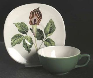 Taylor, Smith & T (TS&T) King ODell Flat Cup & Saucer Set, Fine China Dinnerwar