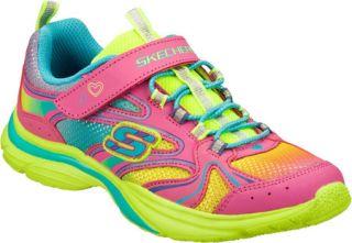 Infant/Toddler Girls Skechers Lite Kicks Rainbow Sprite   Neon Pink/Multi Train