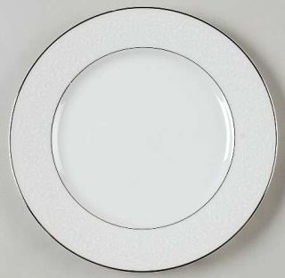 Majestic (Japan) Plymouth Salad Plate, Fine China Dinnerware   White Floral On W