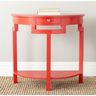 Safavieh Liana Hot Red Console (RedMaterials: Pine woodDimensions: 29.7 inches high x 31.9 inches wide x 14.2 inches deepThis product will ship to you in 1 box.Assembly required )