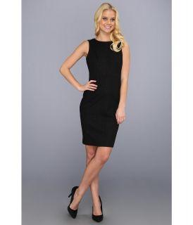 Donna Morgan Multi Seamed Sheath Womens Dress (Black)