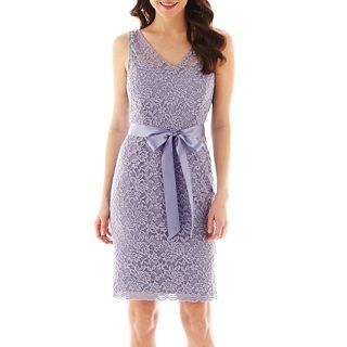 Simply Liliana Sleeveless Lace Sheath Dress, Thistle