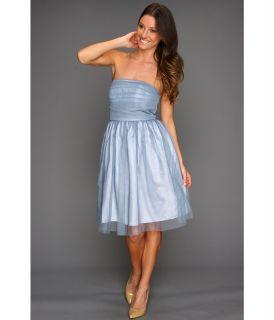 Donna Morgan Kaylin Multi directional Pleated Bustier Dress Womens Dress (Blue)