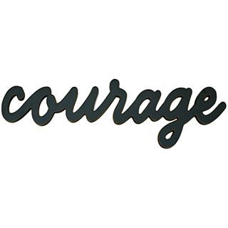 ART Courage Wood Sign Wall Decor, Black