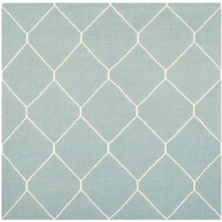 Safavieh Dhurries Light Blue/Ivory Rug DHU635C Rug Size: Square 6 x 6