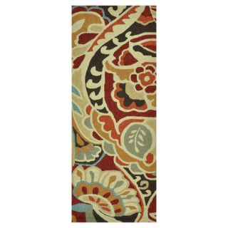 Loloi Rugs Summerton Life Style Collection Ivory Red 5 Ft