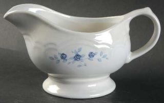 Pfaltzgraff Poetry Glossy Gravy Boat, Fine China Dinnerware   Glossy, Newer, Blu