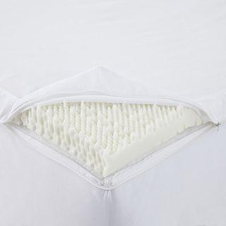 ISOTONIC Cool Slumber Memory Foam Mattress Topper, White