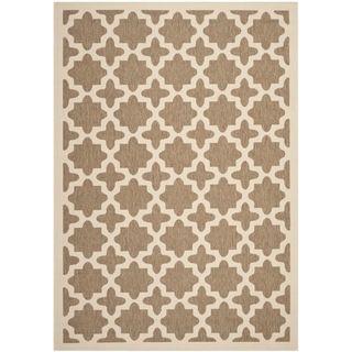 Safavieh Indoor/ Outdoor Courtyard Brown/ Bone Rug (8 X 11)