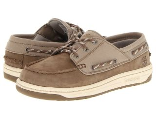 Timberland Kids Ryan Springs Leather and Fabric Boat Shoe Boys Shoes (Taupe)