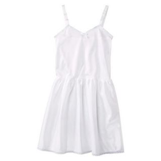 Girls Nylon Full Slip   White 8