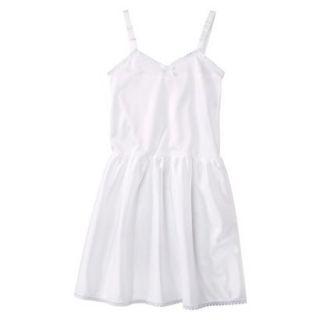 Girls Nylon Full Slip   White 8