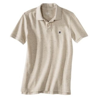 Mossimo Supply Co. Mens Short Sleeve Athletic Fit Polo   Oatmeal Heather XS