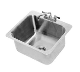 Advance Tabco Drop In Sink   (1) 20x16x12 Bowl, Deck Mount Swing Spout, 18 ga 304 Stainless