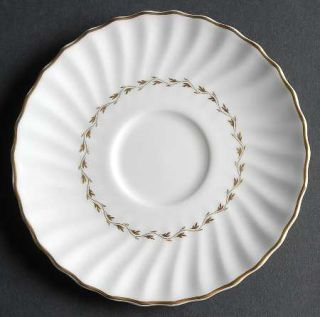 Royal Doulton Adrian Saucer for Footed Cup, Fine China Dinnerware   Inner Gold L