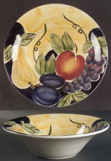 Tabletops Unlimited Di Frutto Large Rim Soup Bowl, Fine China Dinnerware   Grape