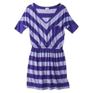 Mossimo Supply Co. Juniors V Neck Dress  Kindred Blue L(11 13)