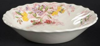 Spode Fairy Dell (Swirled) Fruit/Dessert (Sauce) Bowl, Fine China Dinnerware   M