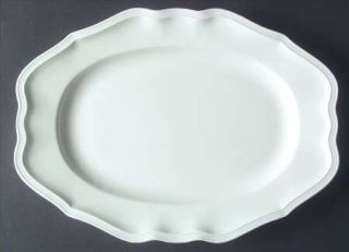 Villeroy & Boch Chambord (White,Fine China,Germany) 14 Oval Serving Platter, Fi
