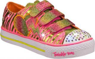 Infant/Toddler Girls Skechers Twinkle Toes Shuffles Glamarazzi   Pink/Green Veg