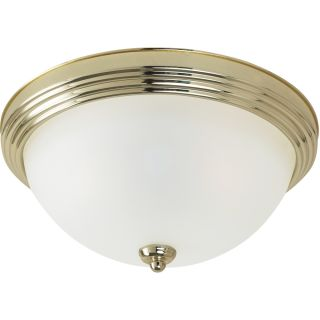 Close To Ceiling 1 light Polished Brass Flush Mount Fixture