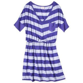 Mossimo Supply Co. Juniors V Neck Elbow Sleeve Dress   Blue Magic XL(15 17)