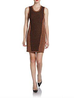 Amanda Metallic Knit Dress   Copper