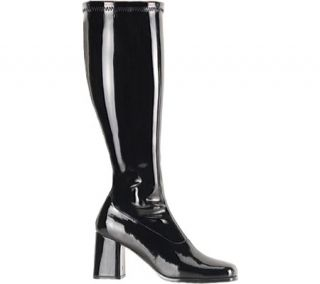 Womens Funtasma Gogo 300W   Black Stretch Patent Boots
