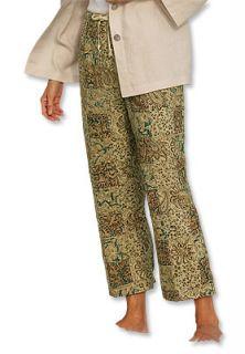 Kalamkari Patch Cropped Pants