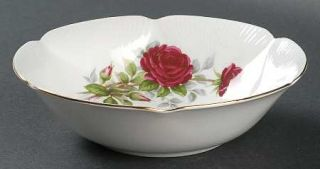 Royal Albert Royal Canadian Rose Coupe Cereal Bowl, Fine China Dinnerware   Red
