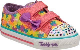 Infant/Toddler Girls Skechers Twinkle Toes Shuffles Jumpin Jigsaw   Pink/Multi