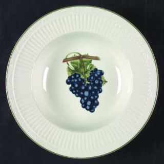 Mikasa Summer Poetry Large Rim Soup Bowl, Fine China Dinnerware   Fruit Center,