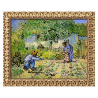 J and S Framing LLC First Steps, 1890 Canvas Wall Art by Vincent van Gogh   24W